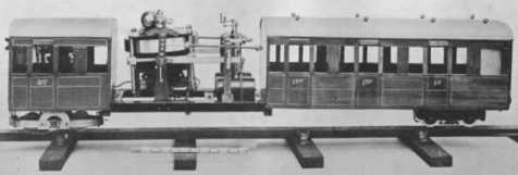 model monorail car with gyroscope